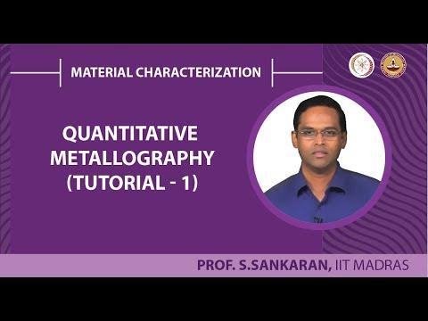 Quantitative metallography - Tutorial 1