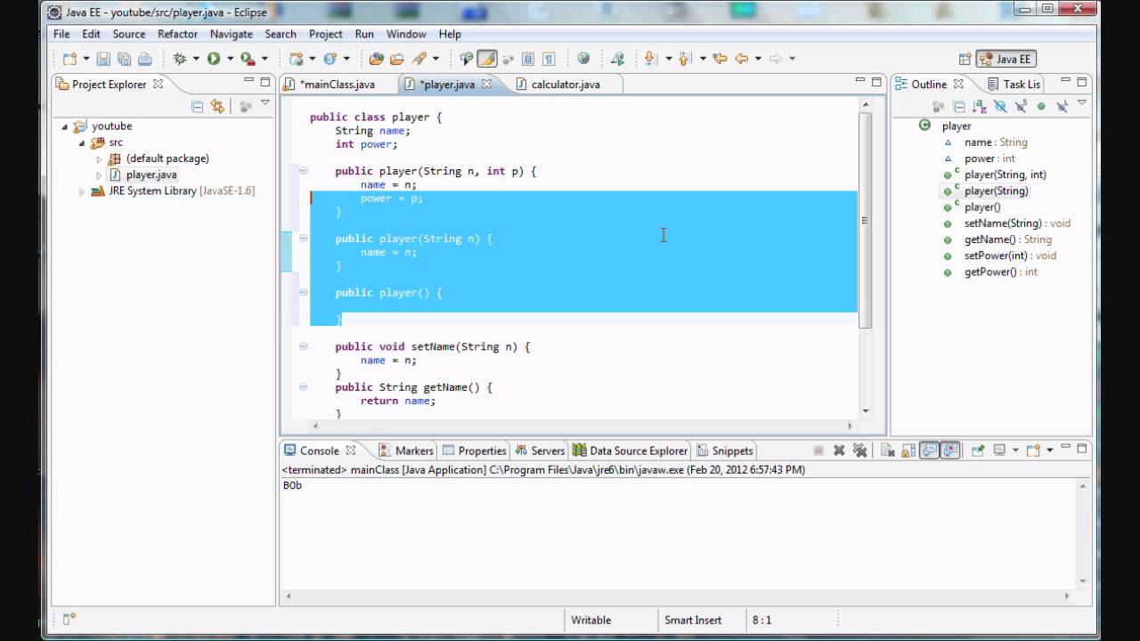Java programming 16 multiple constructors youtube java programming 16 multiple constructors baditri Image collections
