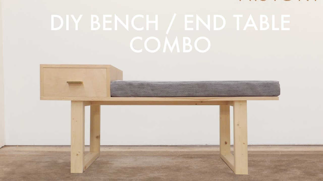 Diy Platform Bench With Built In Side Table Modern