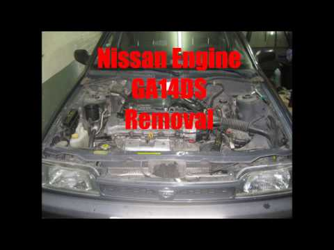 Nissan Engine GA14DS Removal