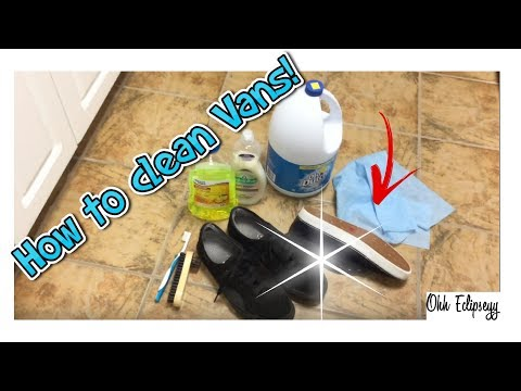 How to clean Vans using household products!!
