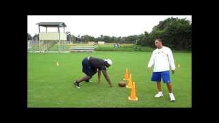 Tj Barnes Jacksonville Jaguar Training With S.a.s. Speed,agility,sport Specific-darrell Pasquale