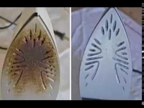 comment nettoyer un fer brûlé et laisser comme neuf. - youtube
