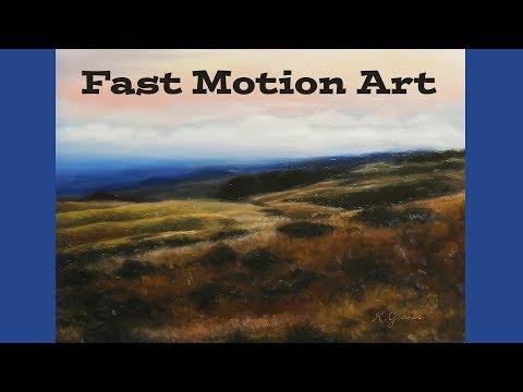 Provo Utah Landscape – Fast Motion Oil Painting by Katie Garner