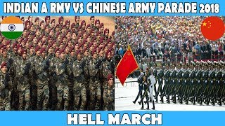 INDIAN ARMY VS CHINESE ARMY REPUBLIC DAY PARADE 2018,Indian Army vs Chinese Army Hell March 2018
