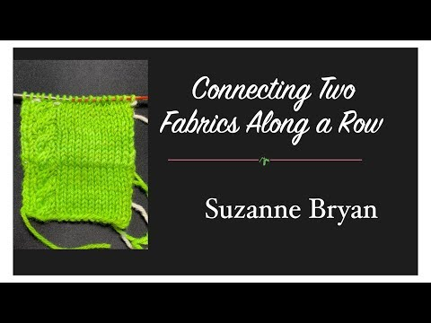 Combining Two Layers of Fabric Across a Row