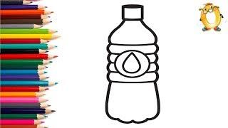 Раскраска для детей БУТЫЛОЧКА С ВОДОЙ. Мультик - Раскраска. Учим цвета II ОБУЧАШКА ТВ