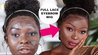 THIS IS A FULL LACE EYEBROW WIG 😲 | Shalom Blac
