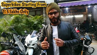 Superbikes Starting From  1.5 lakhs Only | सिर्फ 1.5 लाख मे Superbike | Saraswati Motors | Karolbagh