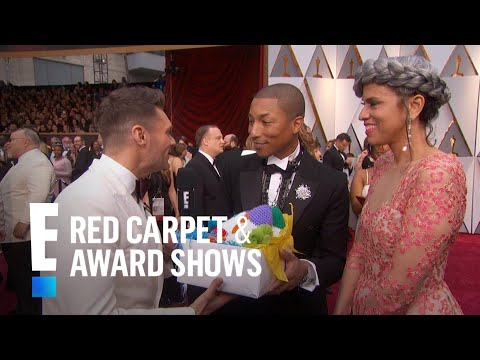 "Pharrell Williams Receives the ""Coolest"" Gift from E! at 2017 Oscars 