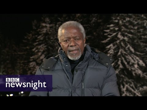 'It's not hopeless... terrorists have always been defeated': Kofi Annan on Syria - BBC Newsnight