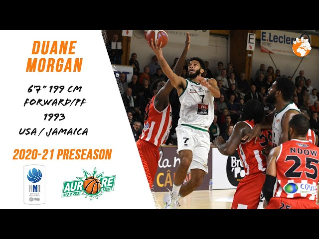 Duane Morgan Preseason Highlights 2020-21 NM1 Vitré