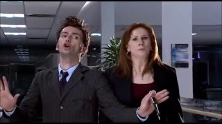 Doctor Who - Partners in Crime - The Doctor and Donna confront Miss Foster