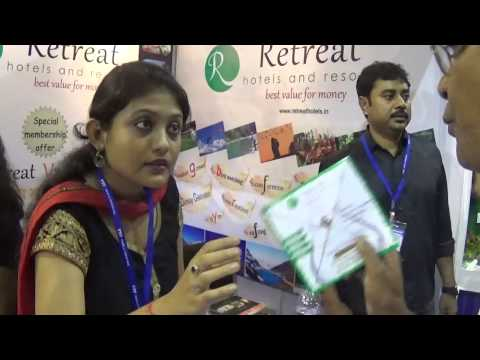 Retreat Hotels And Resort Sikkim, Darjeeling Stall At TTF 2014 At Kolkata HD Video