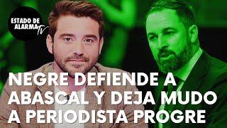 Negre defiende a Abascal tras ser declarado 'non grato' en Ceuta y deja mudo a periodista 'progre'