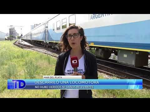 Descarriló una locomotora en Mar del Plata: no hubo heridos ni daños relevantes