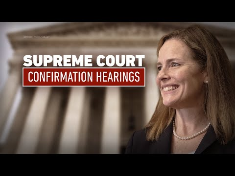 Supreme Court confirmation hearing for Amy …