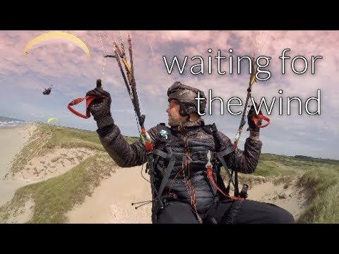 Waiting for the wind - dune paragliding in wijk