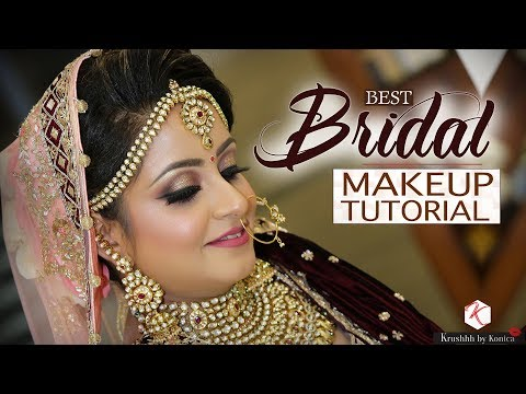 Best Bridal Makeup Tutorial | Indian Bridal Makeup 2018 | Krushhh By Konica thumbnail