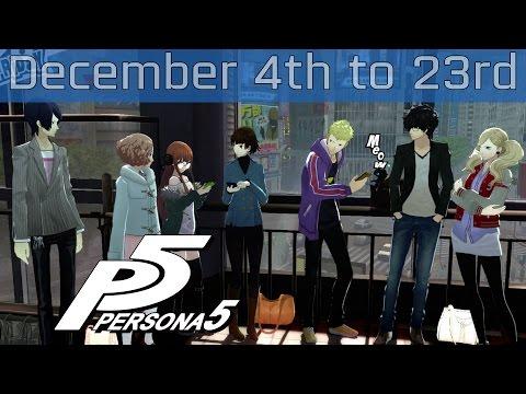 Persona 5 - December 4th: Sunday to December 23rd: Friday Walkthrough [HD 1080P]
