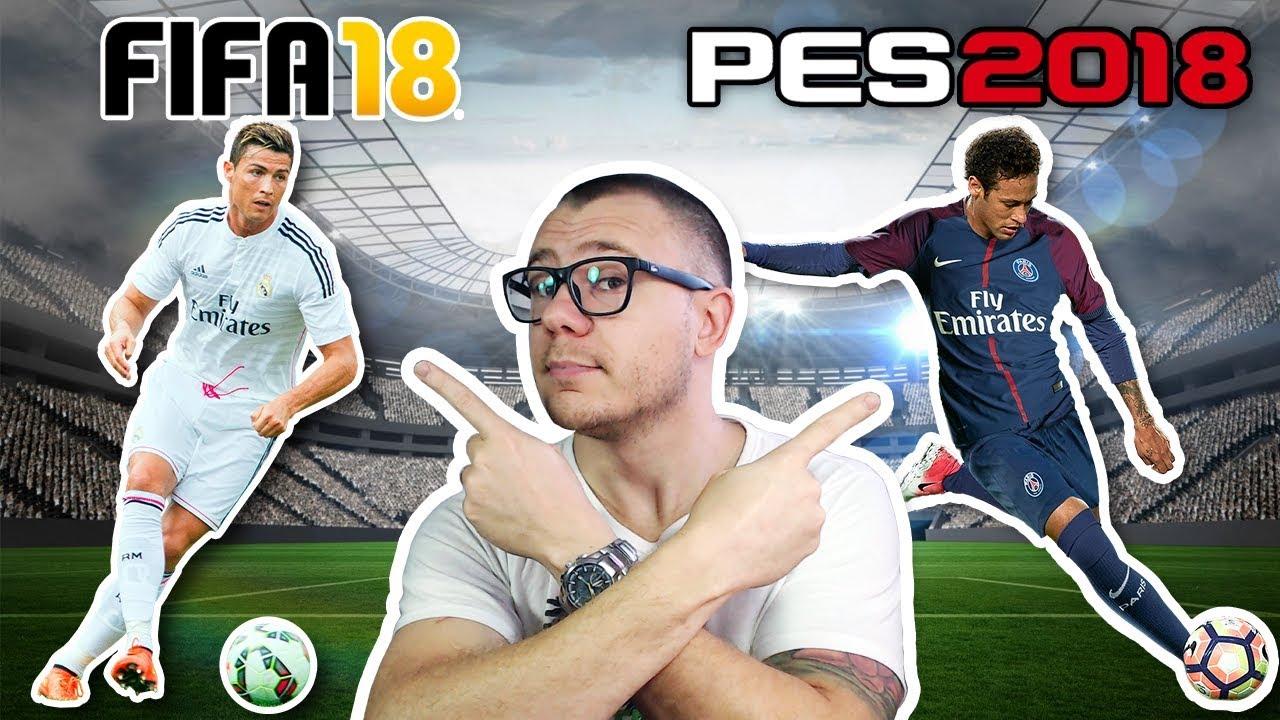 QUAL VALE A PENA FIFA 18 OU PES 18? GAMEPLAY DE COMPARAÇÃO - PT-BR