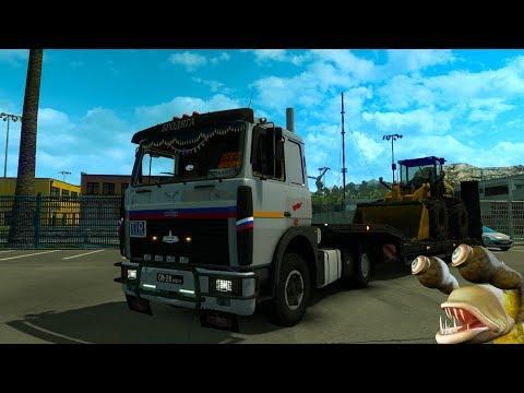 МАЗ-6303 ОБЗОР Euro Truck Simulator 2 (v1.32.x, - 1.34.x)