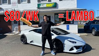 How Working at SUBWAY Got Me a $300,000 Lamborghini