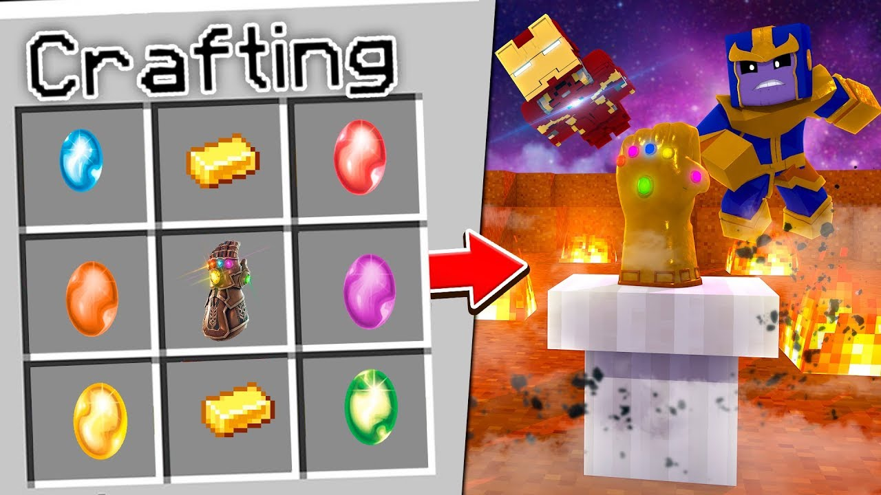 Minecraft - HOW TO CRAFT THE INFINITY GAUNTLET!!!