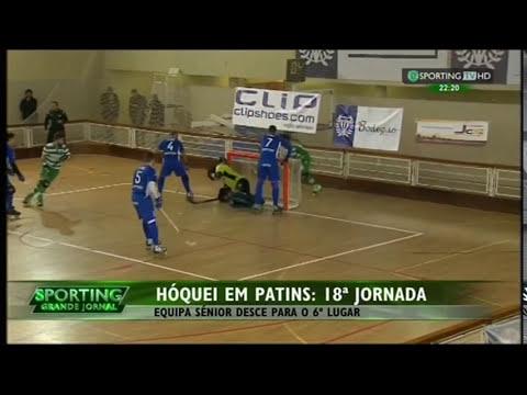 Hoquei Patins :: 18J :: Póvoa - 2 x Sporting - 2 de 2014/2015