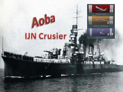 World of Warships - Aoba Tier 6 IJN Cruiser 5 Kills 11 citadels 18 planes shot down.