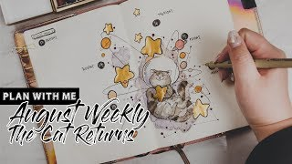 Plan With Me | August Weekly Setup - The Space Cat Returns