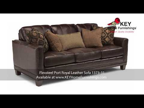 Leather Stationary Sofas Portland * Flexsteel 2017 * KEY Home Furnishings