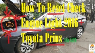 ▶️How To Reset Check Engine Light on 2016 2017 2018 Toyota Prius and OBD2 Port Location