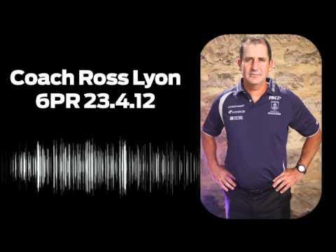 Ross Lyon on 6PR: 23.4.12