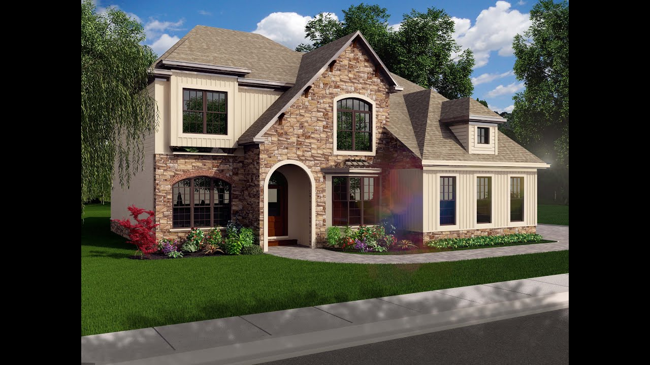 Custom Home Exteriors Model full 3d modeling and rendering of exterior of 4,000 sf custom home
