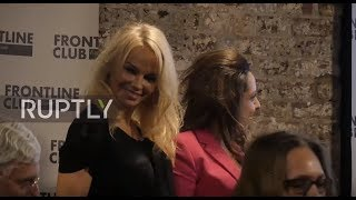 UK: Pamela Anderson talks Putin and WikiLeaks at London book launch