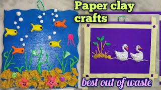 Paper Mache  Cardboard crafts  balcony Room makeover  Diy  Wall Hanging