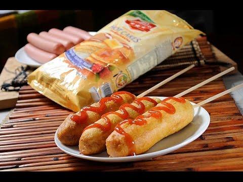Banderillas de salchicha con harina de hot cakes - Receta fácil de preparar