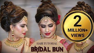 Bridal HIGH Bun Hairstyle Tutorial | Traditional Bridal Hairstyle Tutorials | Krushhh by Konica