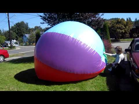 168 inch beach ball inflation