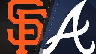 Giants' offense erupts in win over the Braves: 5/5/18