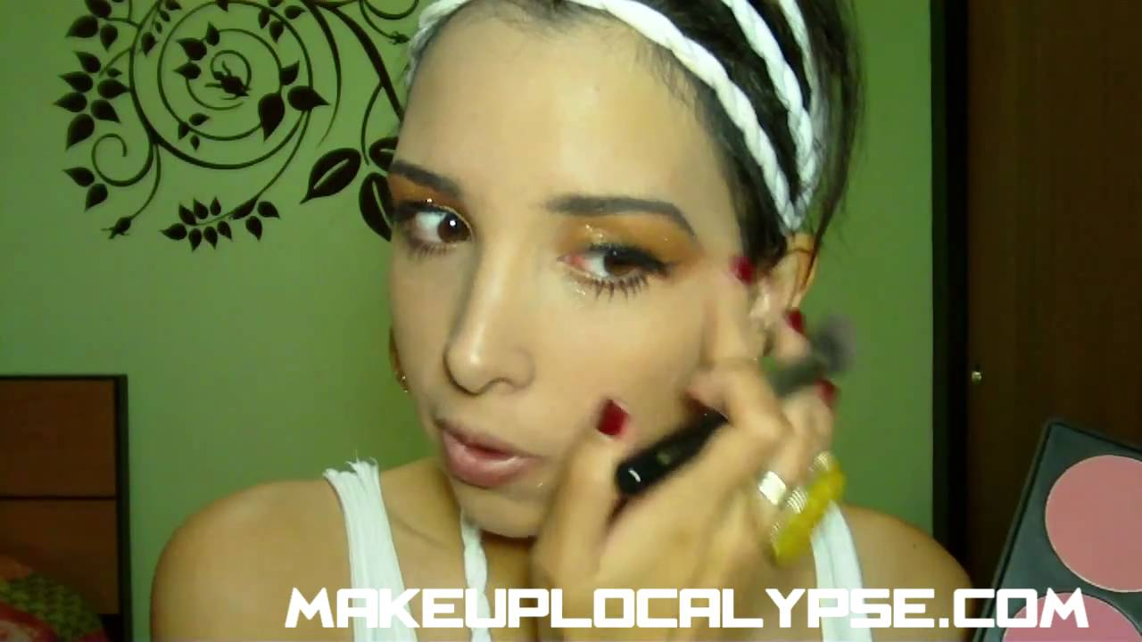 maquillaje disfraz romano