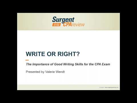 CPA Exam Webinar - Succeed on BEC Written Communication - Surgent CPA Review