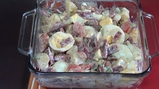 Cold Potato Salad With Bacon And Eggs - How To Make This Delicious Italian Cold Salad Recipe.