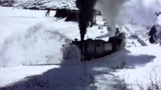 White Pass & Yukon Route railway - Rotary Snow Plow at Work #3 thumbnail
