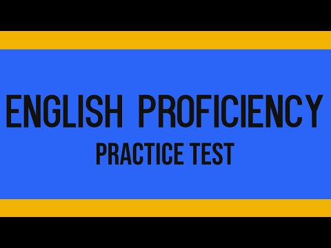 ENGLISH PROFICIENCY PRACTICE TEST - ELEMENTARY LEVEL
