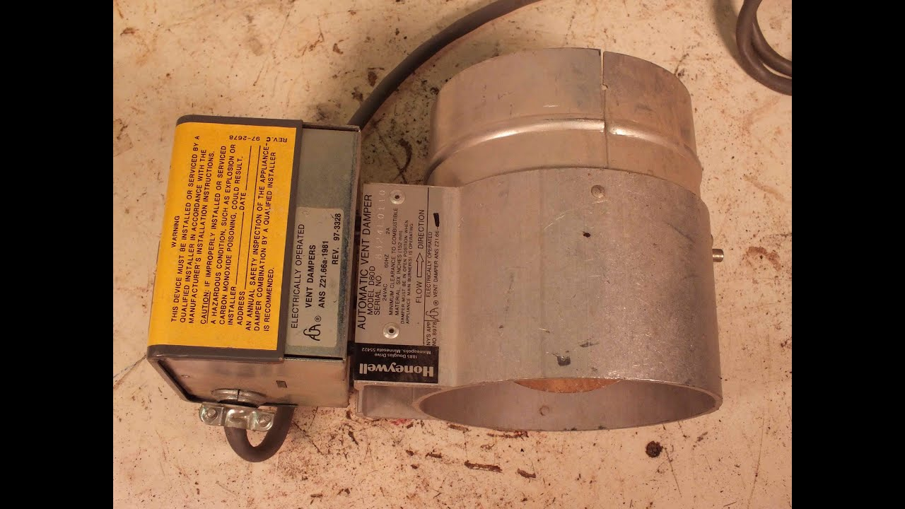 High Efficiency Furnace Venting Diagram Two Pole Switch Wiring Honeywell Vent Damper Youtube