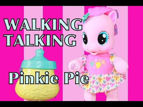 Baby pinkie pie learn to walk