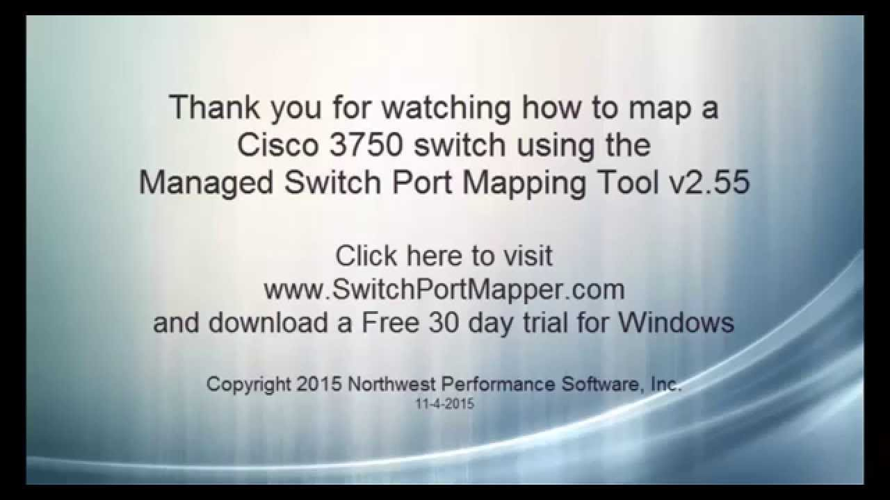 Switch Port Mapping a Cisco 3750 Switch