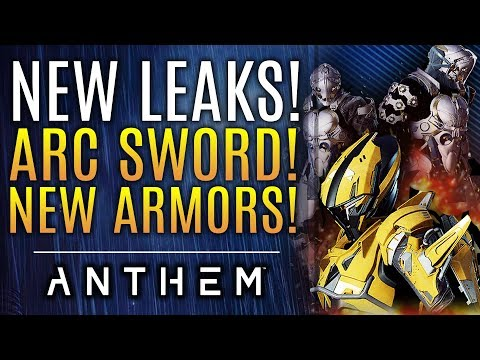 Anthem - NEW LEAKS: Arc Sword! Melee Weapons, New Armors and Skins Found! New Updates!